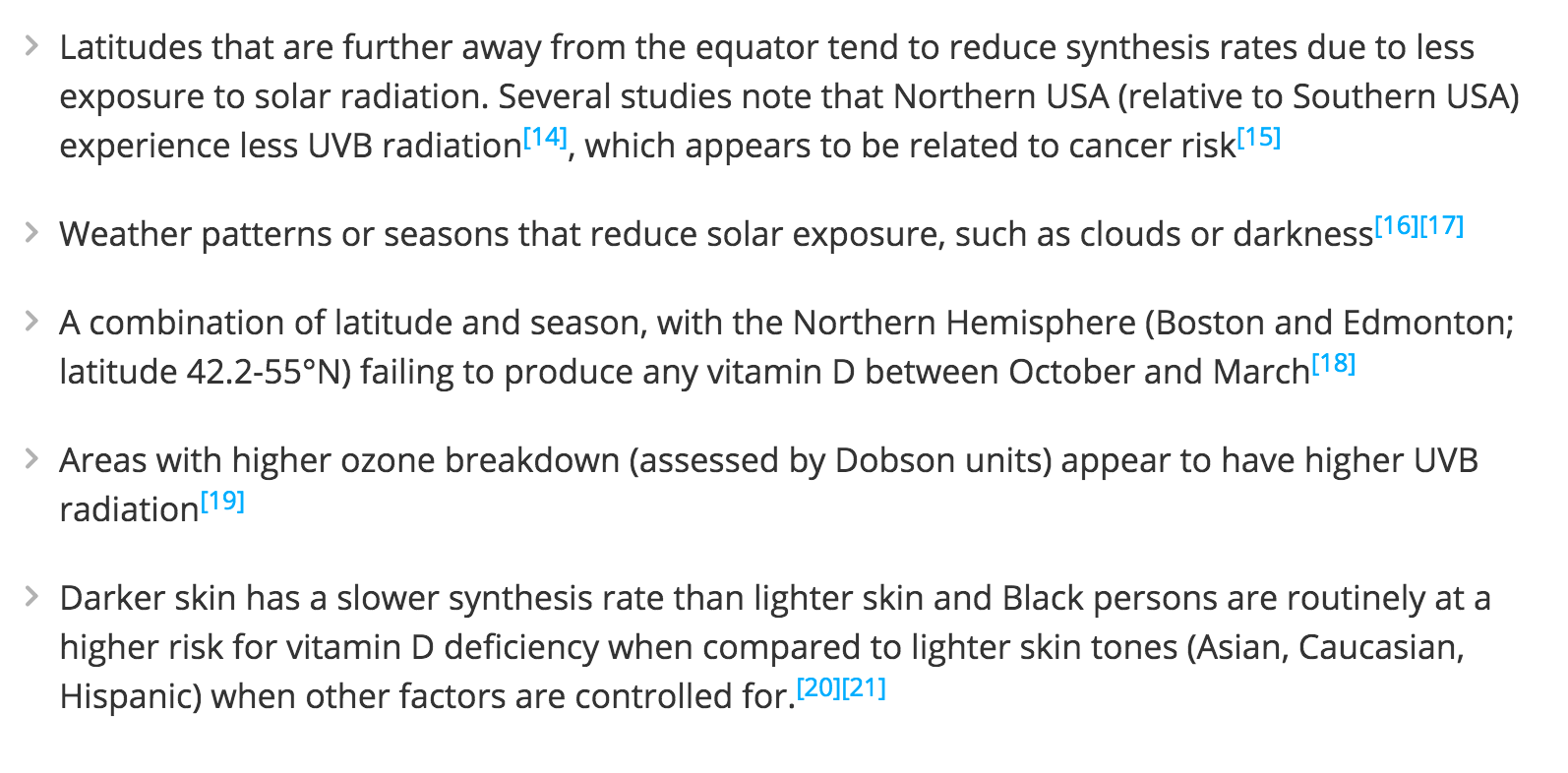 Vitamin D & Sun Exposure